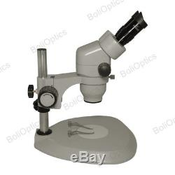 7X-45X SWF Binocular Zoom Stereo Microscope Pillar Stand 10X Super Widefield