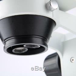 7X-45X Stereo Microscope LED Light Binocular Industry PCB Inspection Zoom Power