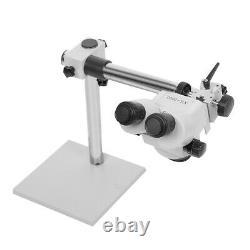 7X-45X Zoom Binocular Stereo Microscope on Boom Stand Jewellers Microscope Tools