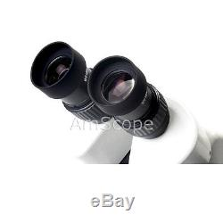 7X-90X Track Stand Stereo Zoom Binocular Microscope with Dual LED Lights
