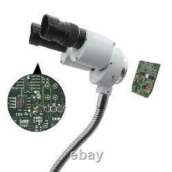 8X Binocular Stereo Microscope with LED Light Adjustable Hose for PCB Repairing