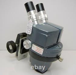 AMERICAN OPTICAL 569 Stereo Zoom Microscope Focus Holder 10XWF EYES 30X MAG #192