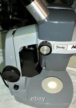 AO Forty Model 41 Stereo 7X-30X Zoom Mag, Built-in Top & Bottom Light source