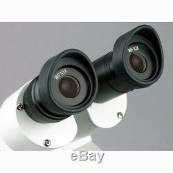 AmScope 10X-20X-30X-60X Forward Stereo Microscope + Digital Camera