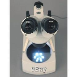 AmScope 10X-20X-30X-60X Portable Binocular Stereo Microscope with 2 LED Lights