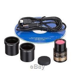 AmScope 10X-20X-30X-60X Stereo Microscope with 1.3MP USB Camera