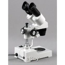 AmScope 10X-20X-30X-60X Wide Sharp Binocular Stereo Microscope + Digital Camera