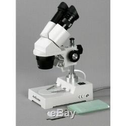 AmScope 10X-30X Sharp Binocular Stereo Microscope 3D Viewing Lab & Multi-Use