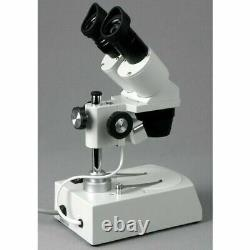 AmScope 10X & 30X Student Binocular Stereo Microscope + Top & Bottom Lights