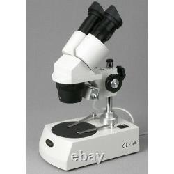 AmScope 10X-60X LED Cordless Stereo Microscope with Top & Bottom Light illuminatio