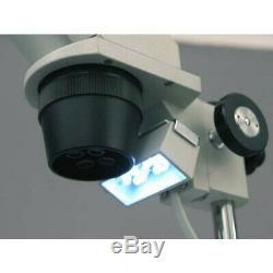 AmScope 20X-80X Multi-Lens Stereo Microscope Pillar Stand, Top/Bottom Lighting