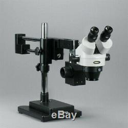 AmScope 3.5-90X Circuit Board Assembly Boom Stand Stereo Microscope Fluor. Light