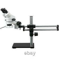 AmScope 3.5X-90X Binocular Stereo Microscope +144 LED Light +Ball Bearing Stand