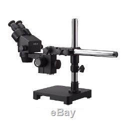 AmScope 3.5X-90X Binocular Stereo Microscope + Boom Stand