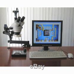 AmScope 3.5X-90X Trinocular Articulating Zoom Stereo Microscope with Clamp