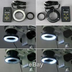 AmScope 3.5X-90X Trinocular Stereo Microscope + 4-Zone 144-LED + 3MP Camera