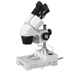 AmScope 5X-10X-15X-30X Widefield Sharp Binocular Stereo Microscope