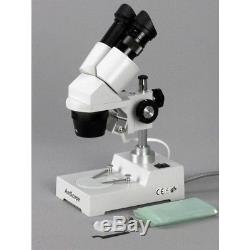 AmScope 5X-10X-15X-30X Widefield Sharp Binocular Stereo Microscope + Camera