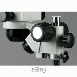 AmScope 5X-80X Stereo Zoom Binocular Microscope + Dual Halogen