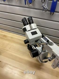 AmScope 5x WF10x20 Inspection Zoom Boom Arm Binocular Stereo LED