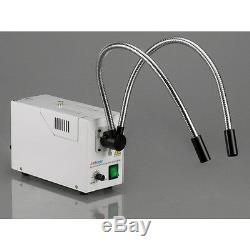 AmScope 6.7X-225X Binocular Stereo Zoom Microscope On 3D Double-arm Boom Stand