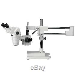 AmScope 6.7X-90X Extreme Widefield Binocular Stereo Microscope on 3D Boom Stand