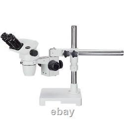 AmScope 6.7x-45x Stereo Zoom Microscope with Single-Arm Boom Stand