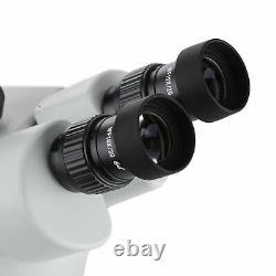 AmScope 7X-45X Binocular Stereo Zoom Microscope with Double Arm Boom Stand