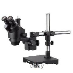 AmScope 7X-45X Trinocular Zoom Stereo Microscope Head Black