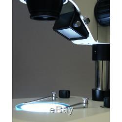 AmScope 7X-90X LED Binocular Stereo Zoom Microscope