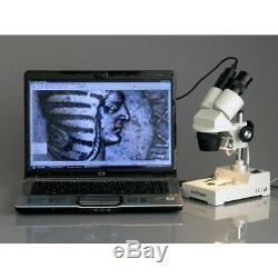 AmScope SE304-PY 20X-30X-40X-60X Sharp Binocular Stereo Microscope w Pillar