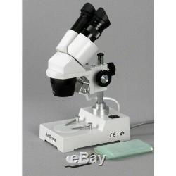AmScope SE304-PZ-E 20X-40X-80X Sharp Stereo Microscope + USB Camera