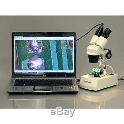 AmScope SE305-PZ Binocular Stereo Microscope 10X-20X-30X-60X