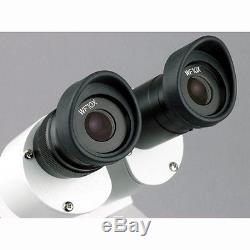 AmScope SE305R-PZ Student Forward Binocular Stereo Microscope 10X-20X-30X-60X