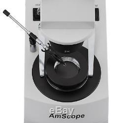 AmScope SE306-PX-DK 10X-20X-40X Gem Stereo Microscope