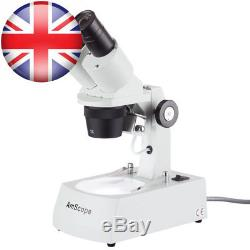 AmScope SE306R-AZ 20X-40X-80X Binocular Stereo Microscope with 2 Halogen Lights