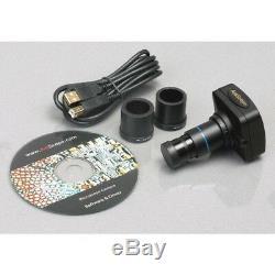 AmScope SE306R-P-P 20X-40X Forward Stereo Microscope + Digital Camera