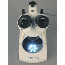 AmScope SE306R-PZ-LED 20X-40X-80X Portable Binocular Stereo Microscope PCB