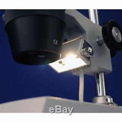 AmScope SE308-PZ Super Binocular Stereo Microscope 20X-40X-80X