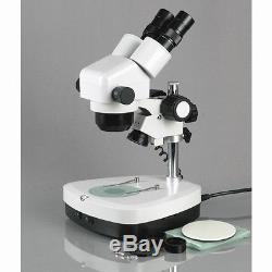 AmScope SH-2B-C2 10X-40X Stereo Zoom Binocular Microscope + Dual Halogen
