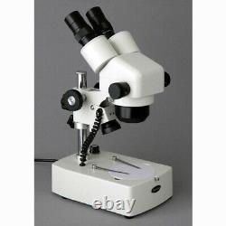 AmScope SH-2BY 10X-60X Zoom Microscope Binocular Stereo Dual Halogen