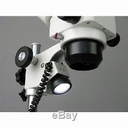 AmScope SH-2BZ 5X-80X Zoom Microscope Binocular Stereo Dual Halogen