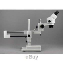 AmScope SM-4BZ-FRL Professional Binocular Stereo Zoom Microscope, WH10x 3.5X-90X