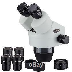 AmScope SM7180B 7X-180X Binocular Zoom Power Stereo Microscope Head