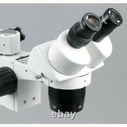 AmScope SW-3B13Y 10X-15X-30X-45X Stereo Microscope with Single-Arm Boom Stand