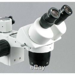 AmScope SW-3B24Y 20X-30X-40X-60X Stereo Microscope with Single-Arm Boom Stand