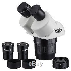 AmScope SW13BZ 10x-20x-30x-60x Super Widefield Stereo Binocular Microscope Head