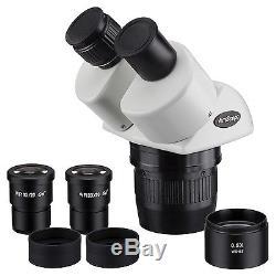 AmScope SW24BX 10x-20x-40x Super Widefield Stereo Binocular Microscope Head