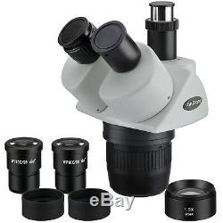 AmScope SW24TY 20x-30x-40x-60x Super Widefield Stereo Trinocular Microscope Head