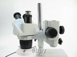 AmScope Stereo Microscope 1-3x variable, with WF10X/20 eyepieces, FRL8 Ring Light